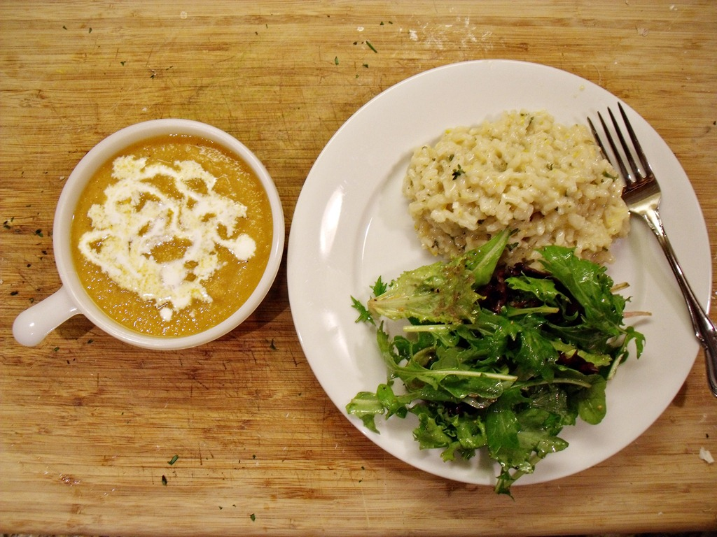 Meyer Lemon Risotto with Butternut Squash, Quince and Apple Soup | The ...