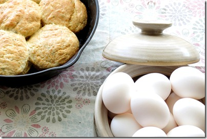 Lemon Herb Biscuits and Eggs